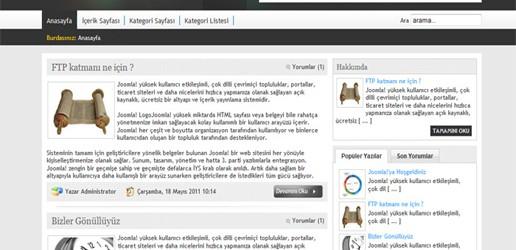 Ücretsiz Joomla Blog Teması – Sitesi