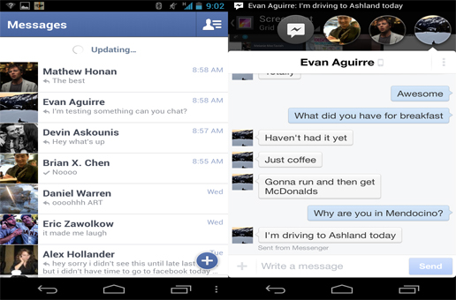 facebook messenger - Facebook'ta Yenilik : Facebook Messenger
