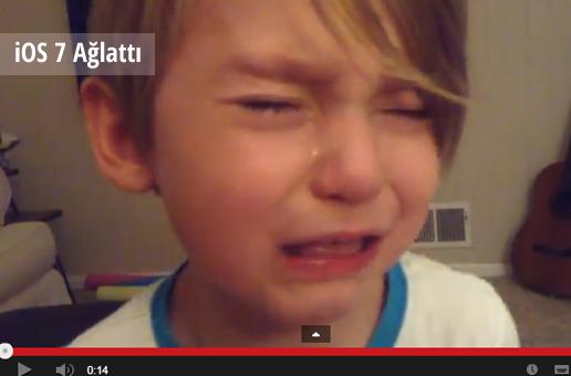 ios7 begenmeyen cocuk - 4 Yaşındaki Çocuk iOS 7'yi Beğenmeyince Ağladı